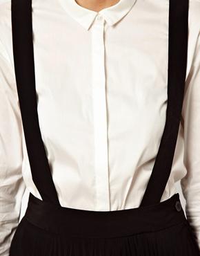 ASOS White | ASOS WHITE Pleated Skirt With Braces at ASOS