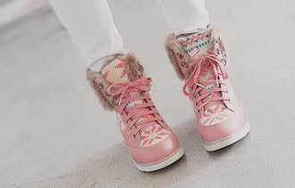 shoes boots pink cute shoes sweet shoes cute winter boots korea korean