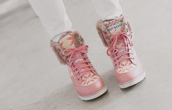 shoes boots pink cute winter boots cute shoes sweet shoes