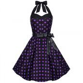 dress,vintage dress,polka dots dress,party dress