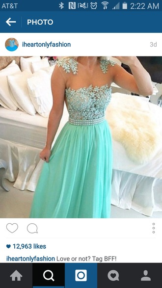dress blue dress blue aqua long dress long prom dress blue prom dress beautiful prom gown jewels vine formal dress dance evening dress prom dress prom dress 2016 sexy prom dress