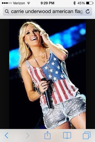 tank top carrie underwood american flag summer