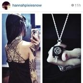 shirt,alternative,hannah pixie snowdon,pentagram,jewels