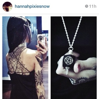 shirt alternative hannah pixie snowdon pentagram jewels