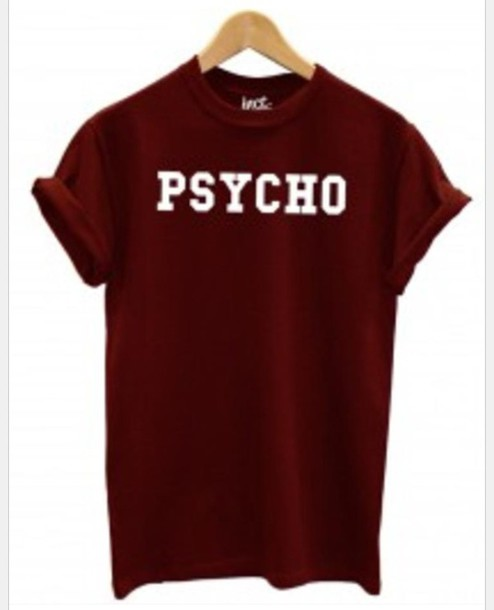 shirt psycho maroon shirt