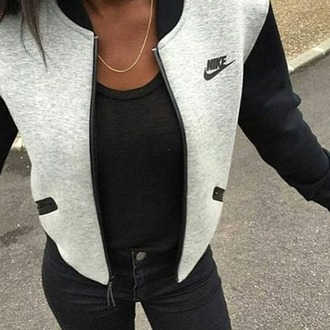 jacket nike black and white nike jacket