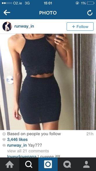 dress little black dress black dress halterneck lace dress cut-out dress