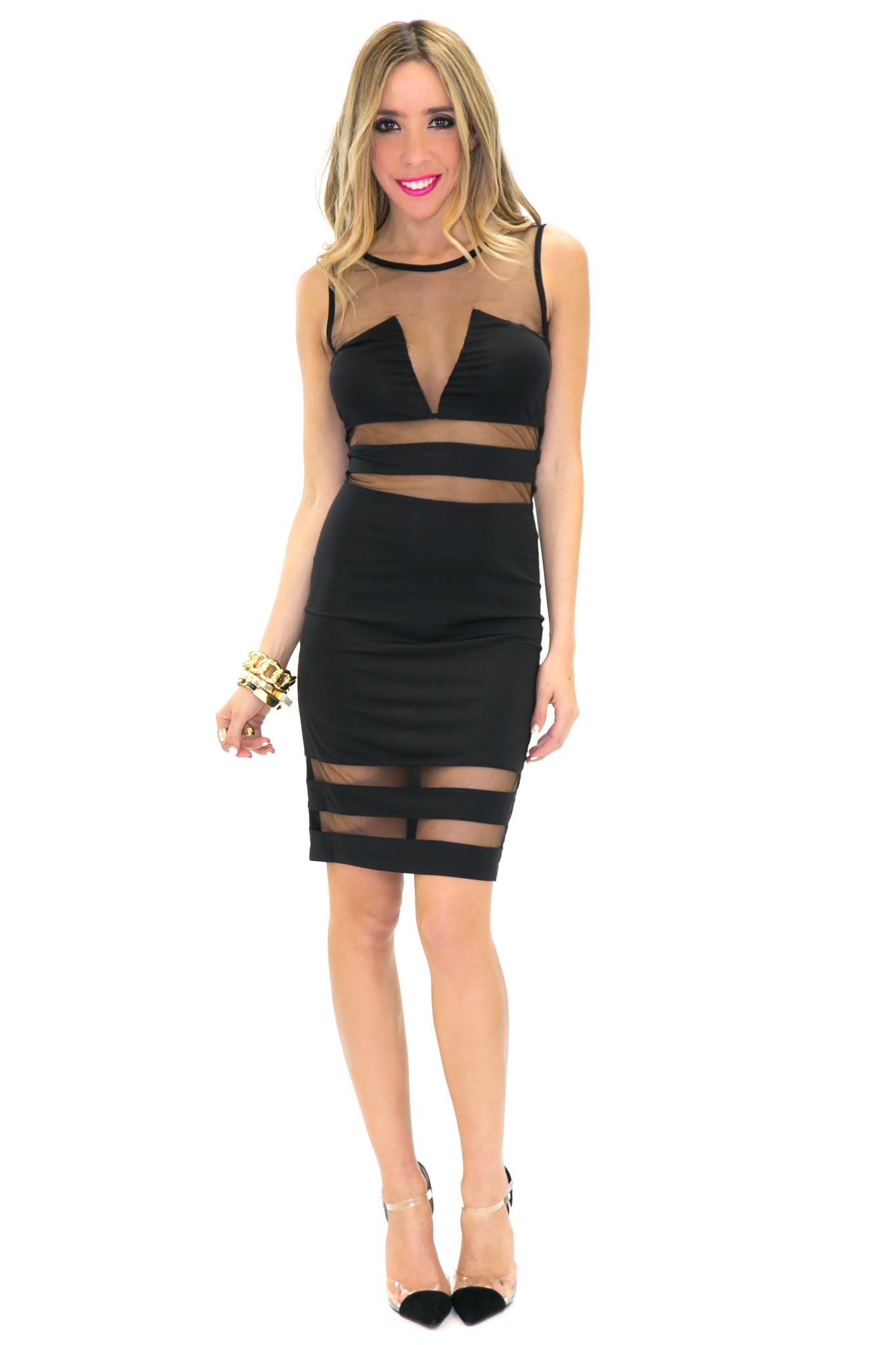 Badgley mesh contrast dress