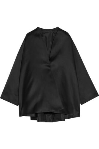 jacket silk satin black