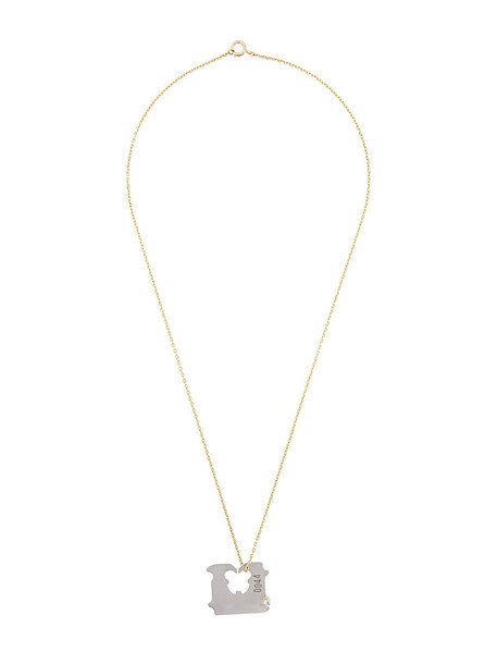 Lauren Klassen women necklace gold silver white grey jewels