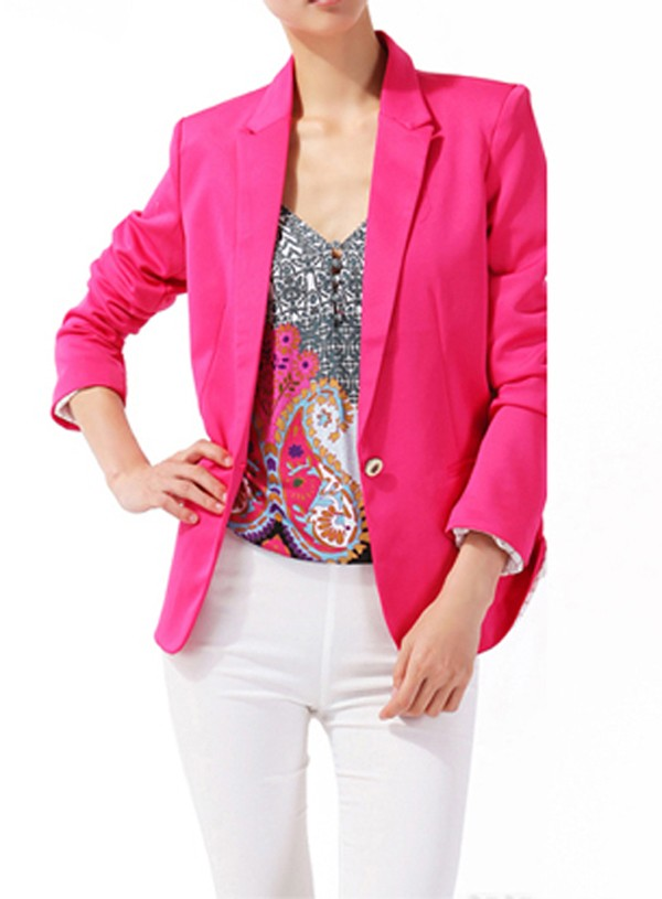Candy Color Fitted Blazer