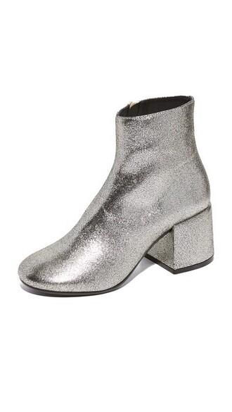 metallic booties shoes