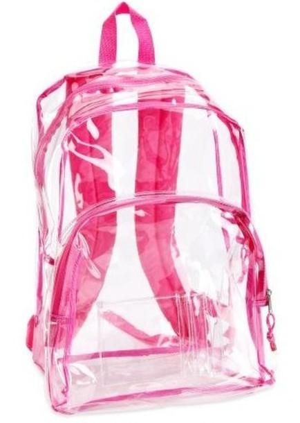 pink backpack bag