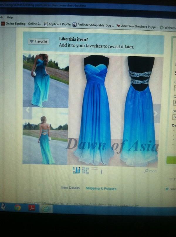 dress blue fade prom