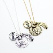 jewels,owl necklace,necklace,jewelry