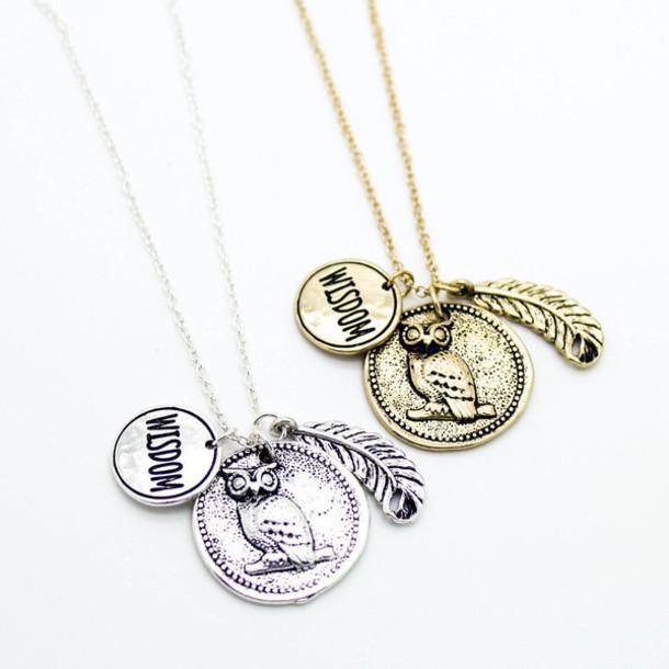 jewels owl necklace necklace jewelry