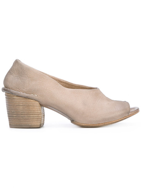 Marsèll open women mules leather nude shoes