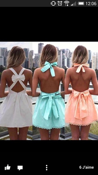 dress bow back dress cute dress girly