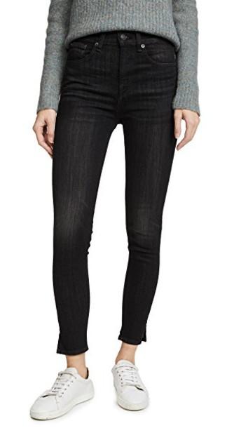Rag & Bone/JEAN jeans skinny jeans high black