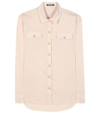 shirt cotton pink top