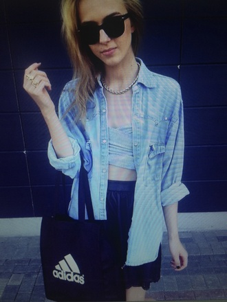 blouse shirt skirt everything cute yes must musthave like pretty hipster adidas bag bandeau
