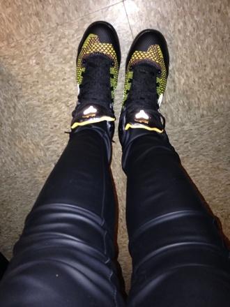 shoes leather pants high top sneakers nike kobe's pants