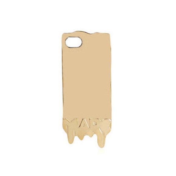 marc jacobs jewels marc by marc jacobs gold phone case gold phonme case dripping liquid gold dripping phone case iphone 4 iphone 5 iphone 4s case