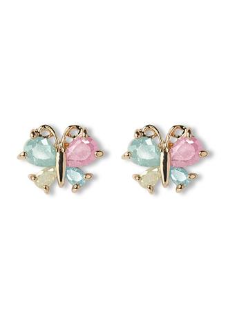 jewels earrings delicate butterfly beads