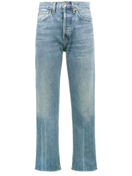 Re/Done jeans high women cotton blue