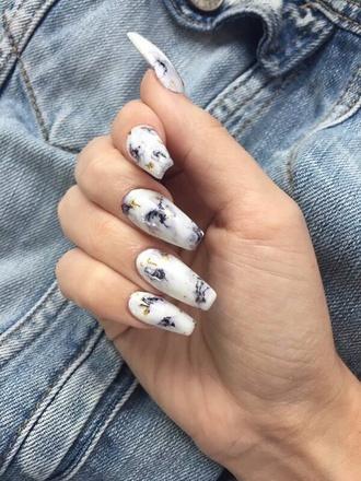 nail polish nail accessories nail art marmo white marble nails nail stickers metallic nails acrylic nails stiletto nails fake nails