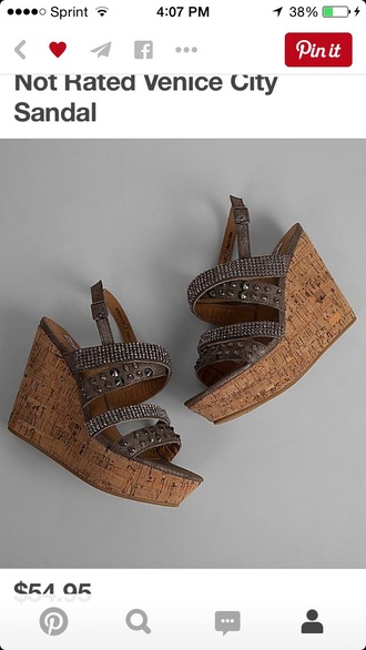 shoes not rated sandals wedges brown gray