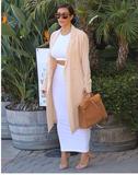 White long skirt/crop top 2piece