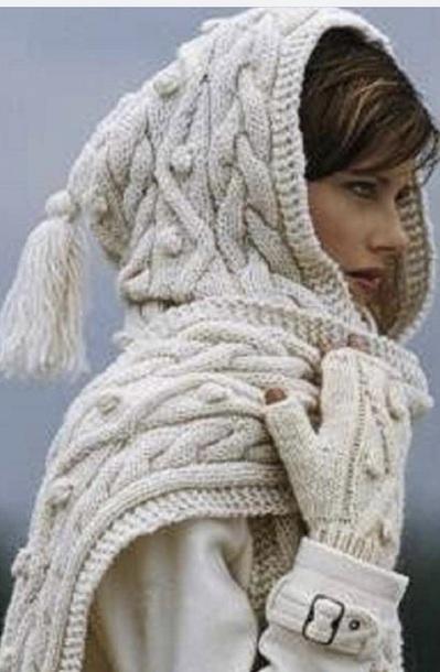 scarf beige