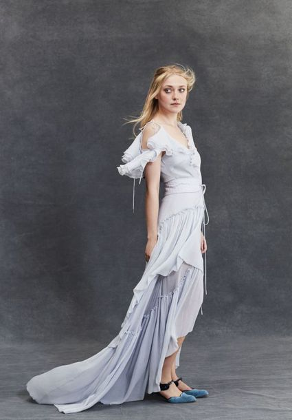 dress dakota fanning maxi dress editorial asymmetrical asymmetrical dress