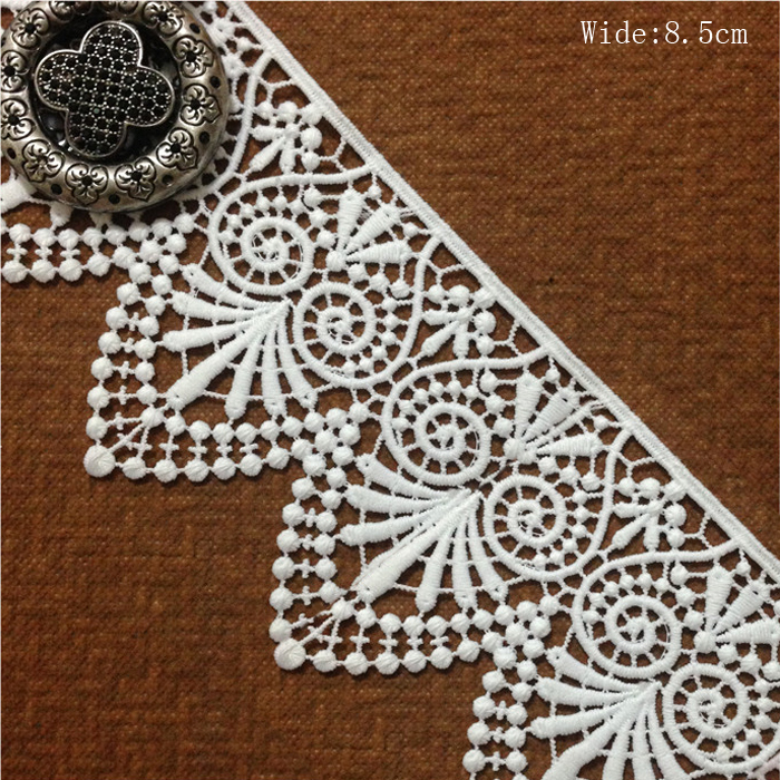 Aliexpress.com   Buy Free shipping white water soluble lace fabric DIY  embroidered lace trim necklace hair accessories ... ed984af171a7