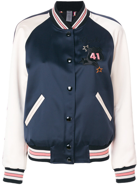 coach jacket women blue