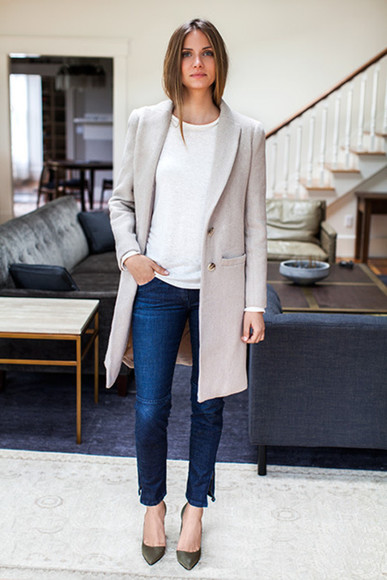 blogger casual le fashion grey coat