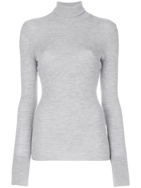 BARBARA BUI sweater turtleneck turtleneck sweater women wool grey