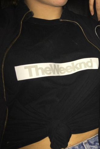 t-shirt shirt the weeknd black black and white style fashion