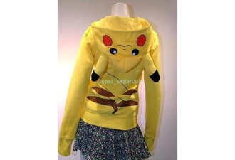 shirt pokemon cool yellow hoody fashion original