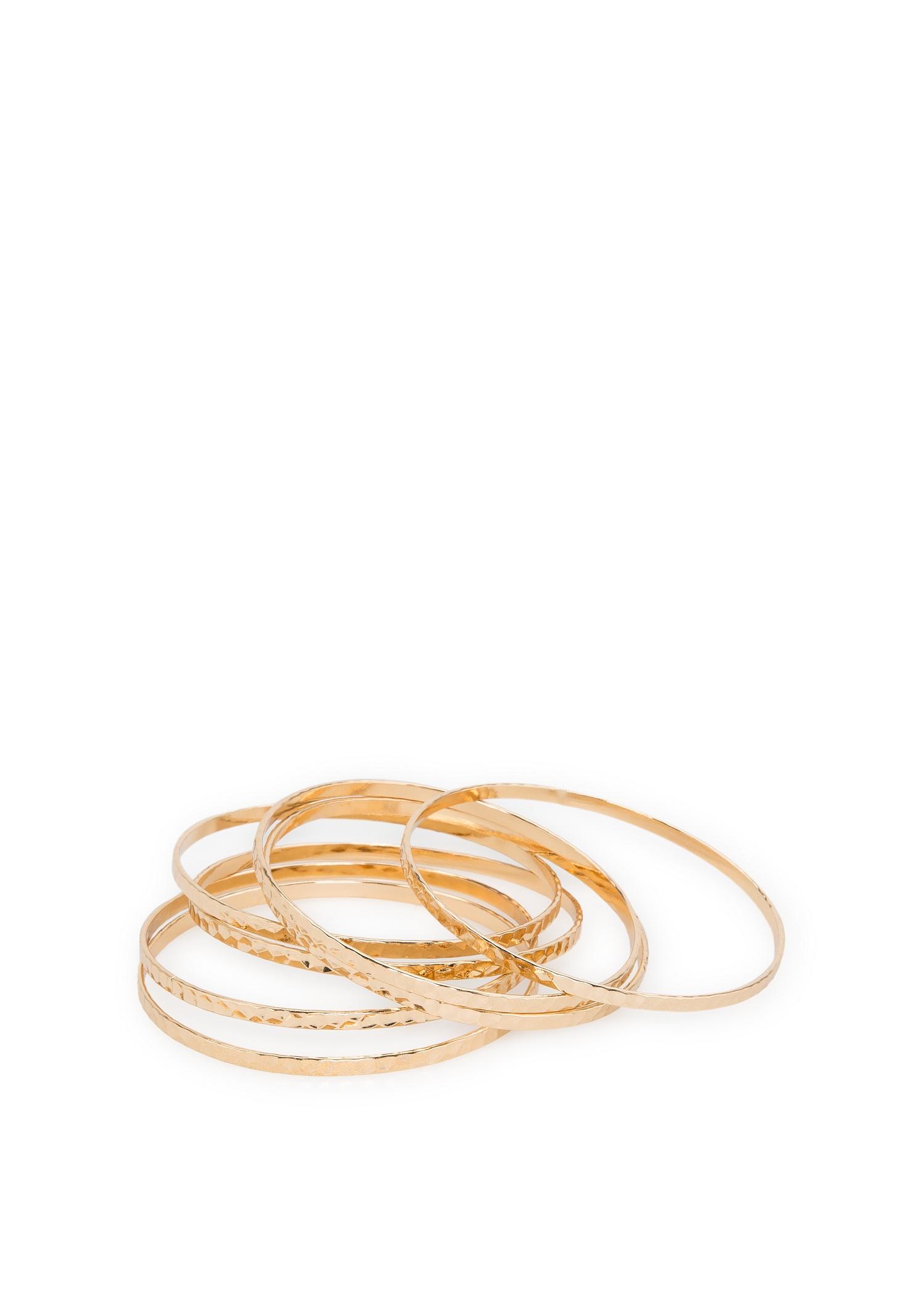 Set bracelets relief - Bijoux pour Femme | MANGO
