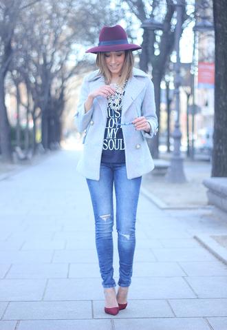besugarandspice blogger jacket shirt jeans hat t-shirt jewels shoes