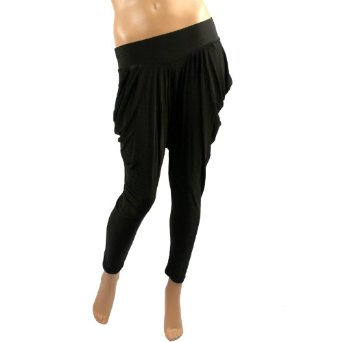Amazon.com: new solid harem parachute balloon low inseam pants leggings stretch tights black: clothing