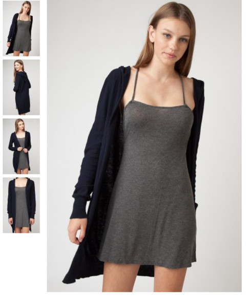 dress cotton grey jersey jersey dress