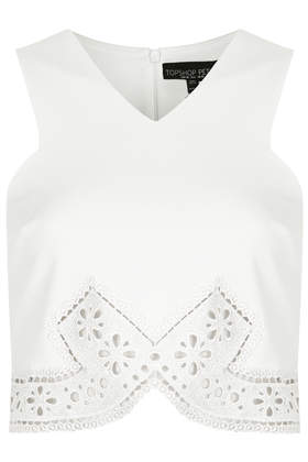 Petite Paisley Trim Shell Top - Hotshop - Clothing - Topshop