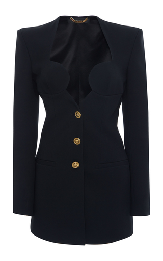 Padded Crepe Blazer Jacket by Versace | Moda Operandi