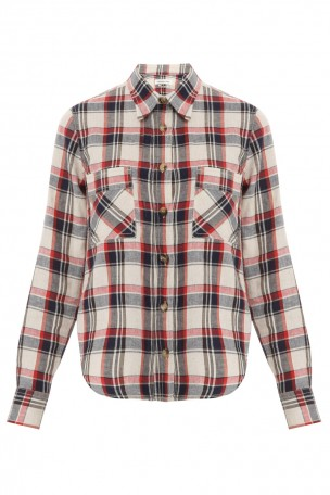 ISABEL MARANT ETOILE - Multi Ugo Ls Cotton Plaid Shirt | Boutique1.com