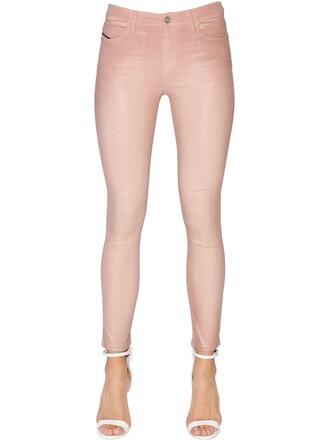 jeans denim pink