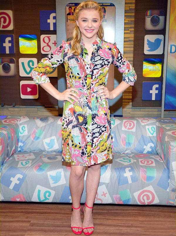 chloe grace moretz dress sandals shoes