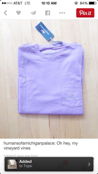 shirt vineyard vines blue top t-shirt purple